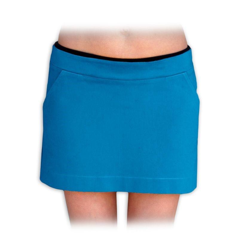 a508c0d44cc těhotenská sukně celoroční denim jeans riflovina barevná PETROLEJOVÁ ...