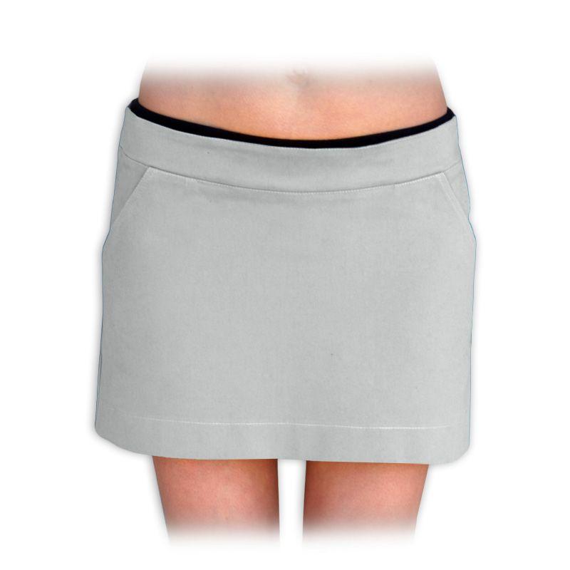 MONIKA- těhotenská mini sukně, šedá 44- Jožánek